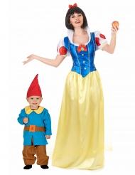 Costume da principessa e nano mamma e figlio