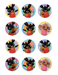 12 decorazioni in zucchero per biscotti Bing™ 5.8 cm