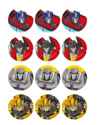 12 Decorazioni in zucchero per biscotti Transformers™ 5,8 cm