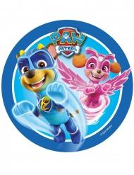 Disco in zucchero Paw Patrol™ blu 21 cm