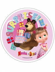 Disco di ostia Masha e Orso™ rosa 21 cm