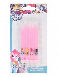 4 Candele di compleanno rosa My Little Pony™ 9 cm