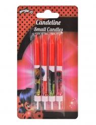 4 Candele si compleanno rosse Ladybug™ 9 cm