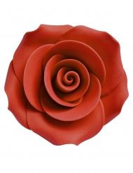6 rose rosse decorazione in zucchero 5 cm