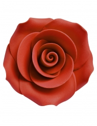 8 mini rose rosse in zucchero 2.5 cm