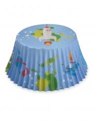 50 pirottini per cupcake astronauta 7 cm