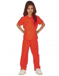 Costume da carcerato arancione per bambina
