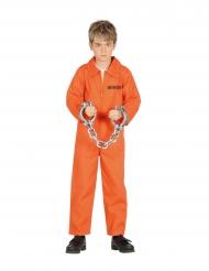 Costume da prigioniero arancione per bambino