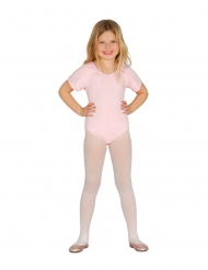 Body a maniche corte rosa per bambina
