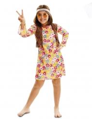 Costume hippie fiorito bambina