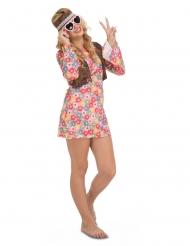 Costume da hippie con fiori per donna