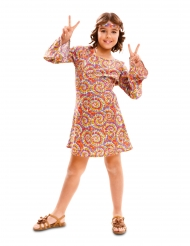 Costume hippie psichedelico bambina