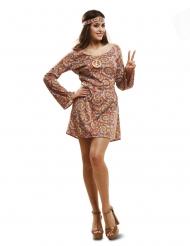 Costume da hippy psichedelico per donna