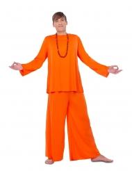 Costume da buddista arancione per uomo