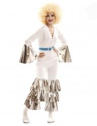 Costume febbre del sabato sera bianco per donna