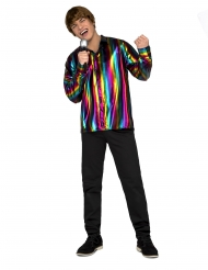 Camicia disco arcobaleno per uomo