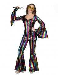 Costume Disco arcobaleno da donna