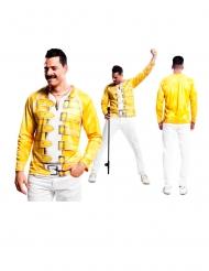 Tshirt gialla da cantante rock per uomo