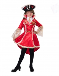 Costume piratessa rossa bambina