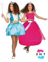 Costume principessa 2 in 1 per bambina