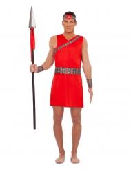 Costume da Masai rosso per uomo