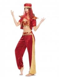 Costume rosso da danzatrice orientale da donna