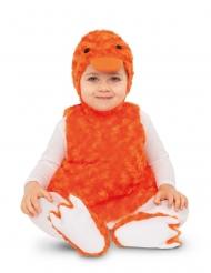 Costume piccola papera di peluche arancione