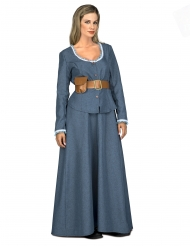 Costume Donna del Far West blu per donna