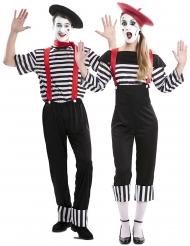 Costume coppia di mimo per adulto