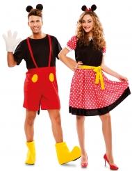 Costume di coppia topi famosi adulto