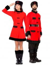 Costume coppia di soldati russi adulto