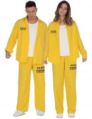 Costume coppia di prigionieri in giallo adulto