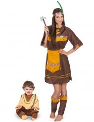 Costume coppia indiani mamma e figlio