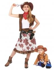 Costume di coppia cowboy mamma e figlia