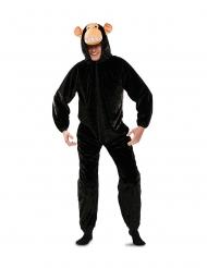 Costume da scimmia nera per adulto