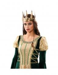 Corona medievale dorata effetto antico donna
