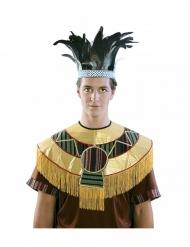 Corona di piume azteca per adulto