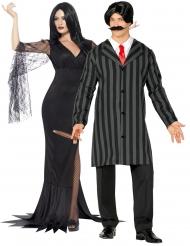 Costume di coppia famiglia terrificante adulto