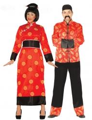 Costume coppia di cinesi adulto