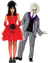 Costume coppia di sposi eccentrici spettrali adulto