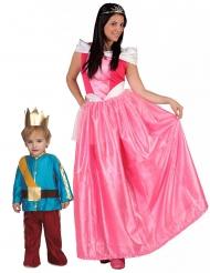 Costume coppia principessa e principe mamma e figlio