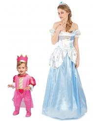 Costume di coppia principessa mamma e figlia