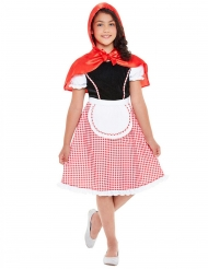 Costume da Miss Cappuccetto con mantello per bambina