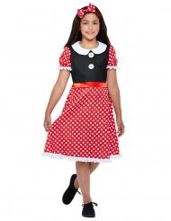 Costume da topolina rosso per bambina