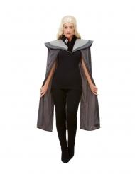Mantello medievale grigio per donna