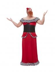 Costume da donna barbuta per uomo