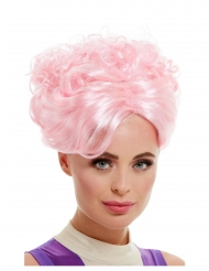 Parrucca pin up vintage rosa per donna.