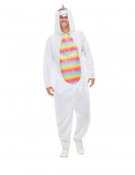 Costume da unicorno bianco per adulti