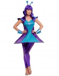 Costune da donna aliena blu e viola