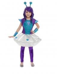 Costume da aliena blu per bambina